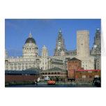 Liverpool city skyline, England, U.K. Card