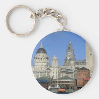 Liverpool city skyline, England, U.K. Keychain