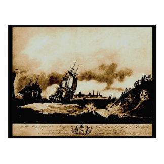 Liverpool de la roca de la perca, 1797 tarjeta postal