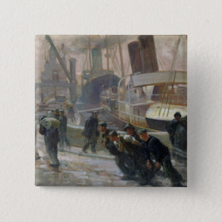 Liverpool Dockers at Dawn, 1903 Button