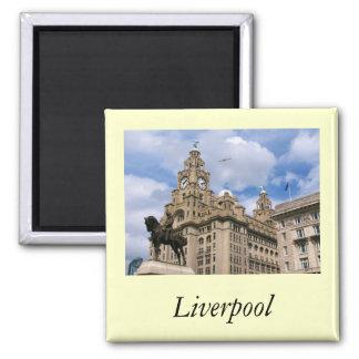 Liverpool - edificio del hígado imán para frigorifico