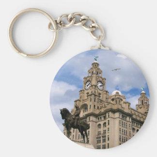 Liverpool - edificio del hígado llavero personalizado