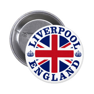 Liverpool England British Flag Roundel Pinback Button