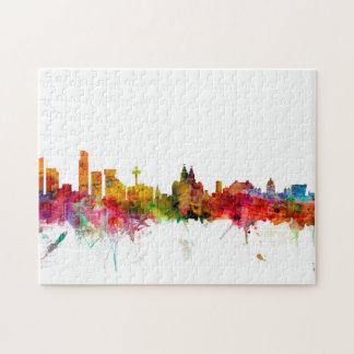 Liverpool England Skyline Jigsaw Puzzle