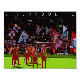 Liverpool FC 2013 14 Poster