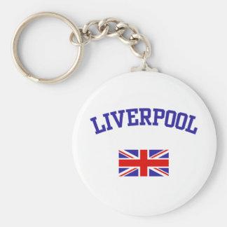 Liverpool Basic Round Button Keychain