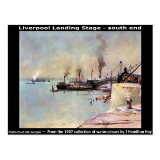 Liverpool Landing Stage – south end. Postcard