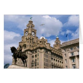 Liverpool - Liver Building Card