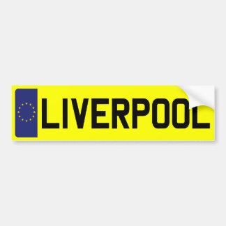 LIVERPOOL Number Plate Bumper Sticker