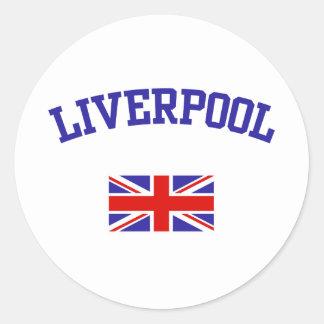 Liverpool Pegatina Redonda