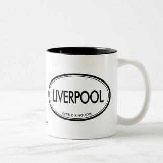 Liverpool, Reino Unido Taza De Dos Tonos