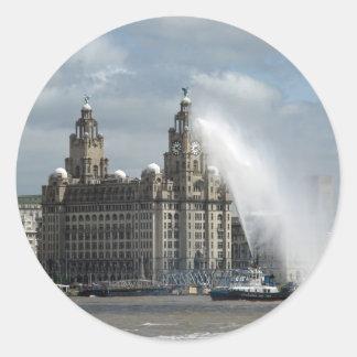 Liverpool Round Stickers