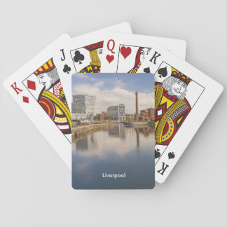 Liverpool Salthouse Dock Merseyside Travel Photo Playing Cards