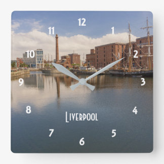 Liverpool Salthouse Dock Merseyside Travel Photo Square Wall Clock