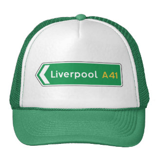 Liverpool, señal de tráfico BRITÁNICA Gorro