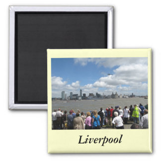 Liverpool Skyline 2 Inch Square Magnet