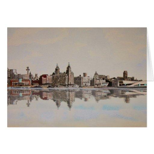 Liverpool Skyline Card