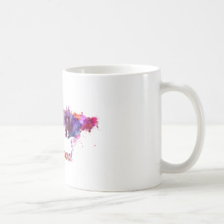 Liverpool skyline in watercolor coffee mug