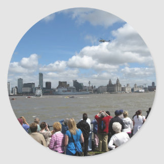 Liverpool Skyline Round Stickers