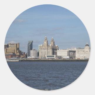 Liverpool Skyline Round Sticker