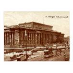 Liverpool, St George's Hall Post Card