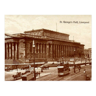 Liverpool, St George's Hall Postcard