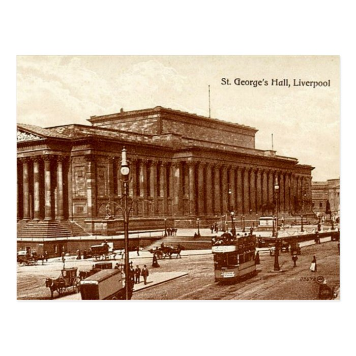 Liverpool, St George's Hall Postcard
