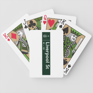 Liverpool Street, Sidney, Australian Street Sign Bicycle Playing Cards