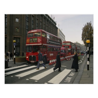 Liverpool Street Station Bus - London Poster