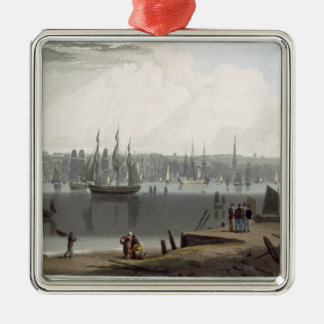 Liverpool, taken from the opposite side of the riv christmas ornament