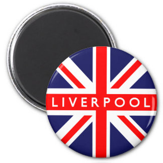 Liverpool UK Flag 2 Inch Round Magnet