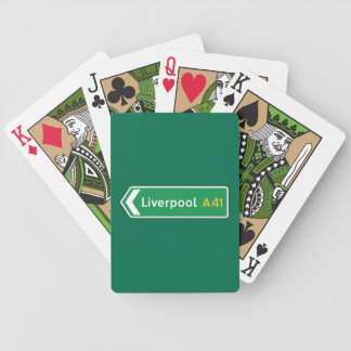 Liverpool, UK Road Sign Bicycle Playing Cards