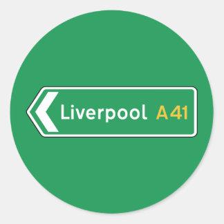 Liverpool, UK Road Sign Sticker
