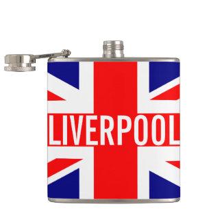 Liverpool UK Union Jack Flag Flasks