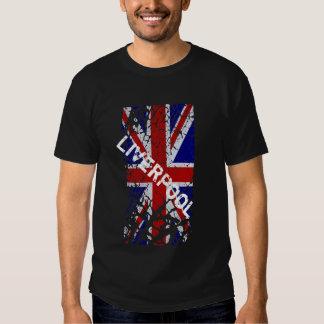 Liverpool Vintage Peeling Paint Union Jack Flag T Shirt