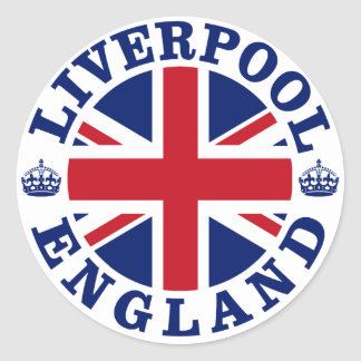 Liverpool Vintage UK Design Classic Round Sticker