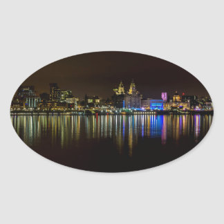 Liverpool Waterfront Oval Sticker