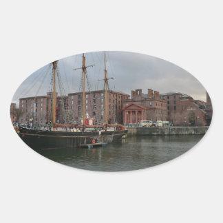 Liverpool's Albert Dock Oval Sticker