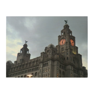 Liverpool's Liver Birds and Royal Liver Building Wood Print