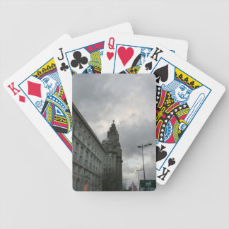 Liverpool's Strand Street with Liver Bird Bicycle Playing Cards