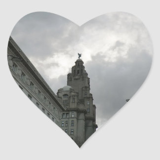 Liverpool's Strand Street with Liver Bird Heart Sticker