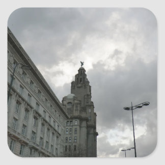 Liverpool's Strand Street with Liver Bird Stickers