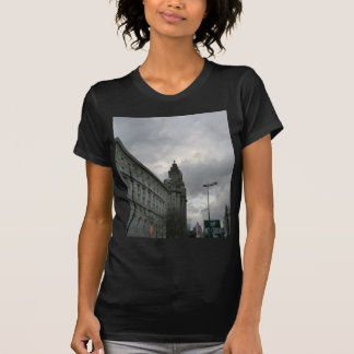 Liverpool's Strand Street with Liver Bird T-shirt