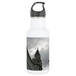 Liverpool's Strand Street with Liver Bird Water Bottle