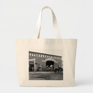 Livery Stable, 1865 Large Tote Bag