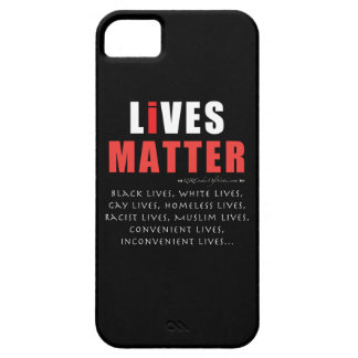 Lives Matter. A message for the times. iPhone 5 Cases