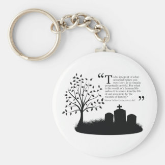 Lives Of Our Ancestors Basic Round Button Keychain