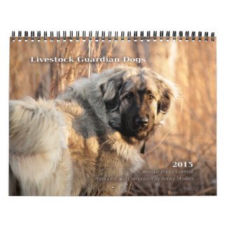 Livestock Guardian Dogs 2015 standard size Calendar