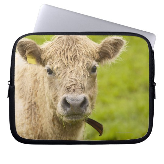 Livestock in a pasture laptop sleeve