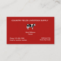 LIvestock Industry Business Cards